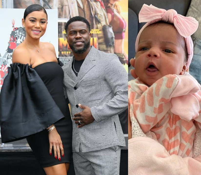 Kevin Hart delighted to share beautiful pictures of his newborn Daughter